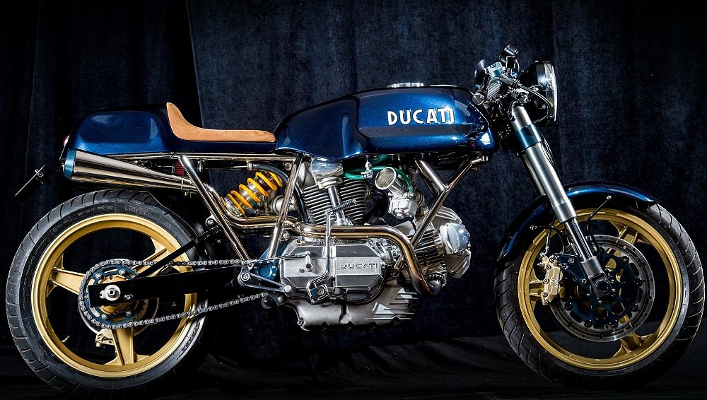 A handbuilt frame and an interesting bevel-drive Ducati engine make for an exquisite custom