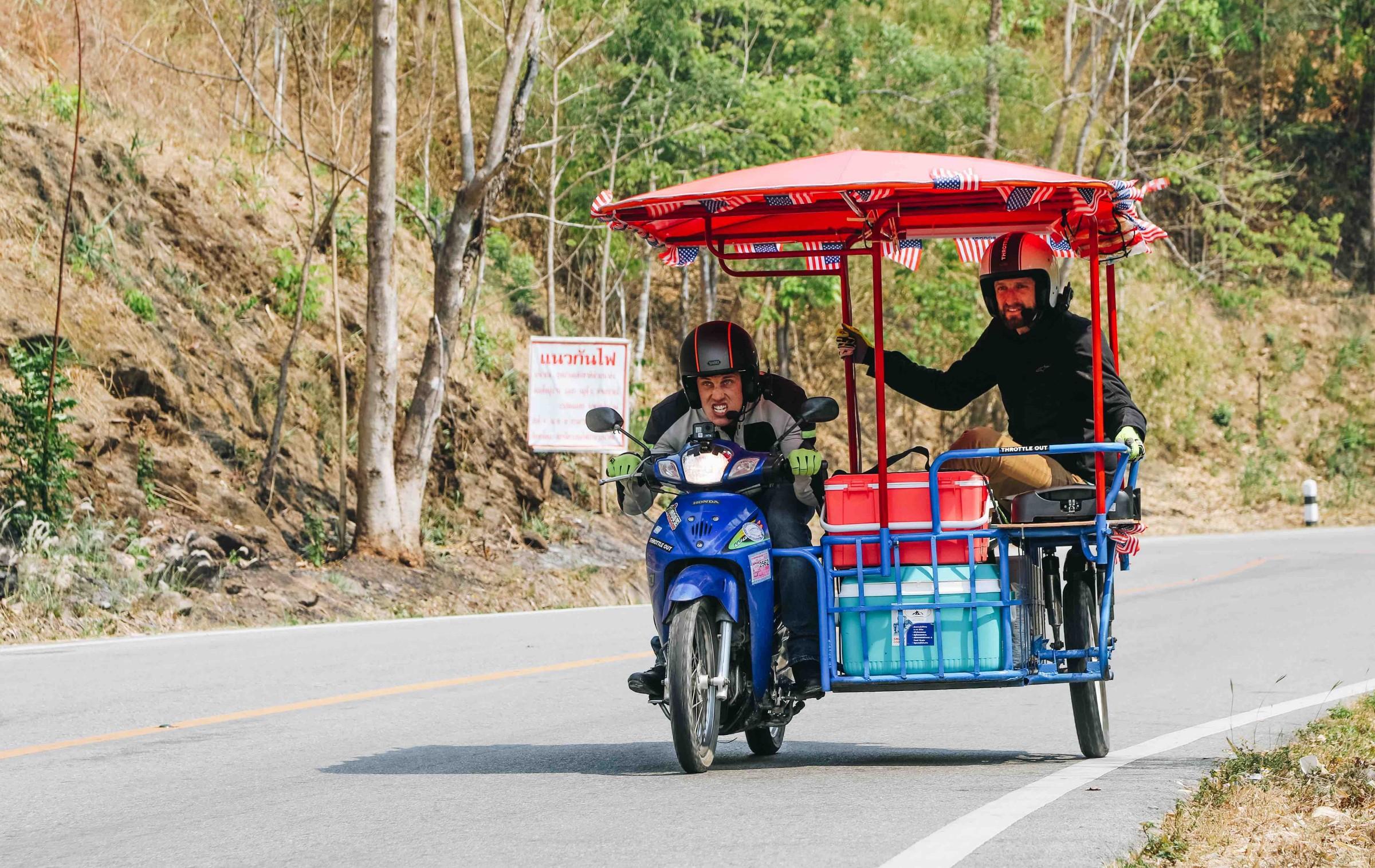 Seeing Thailand on a seven-horsepower sidecar hamburger