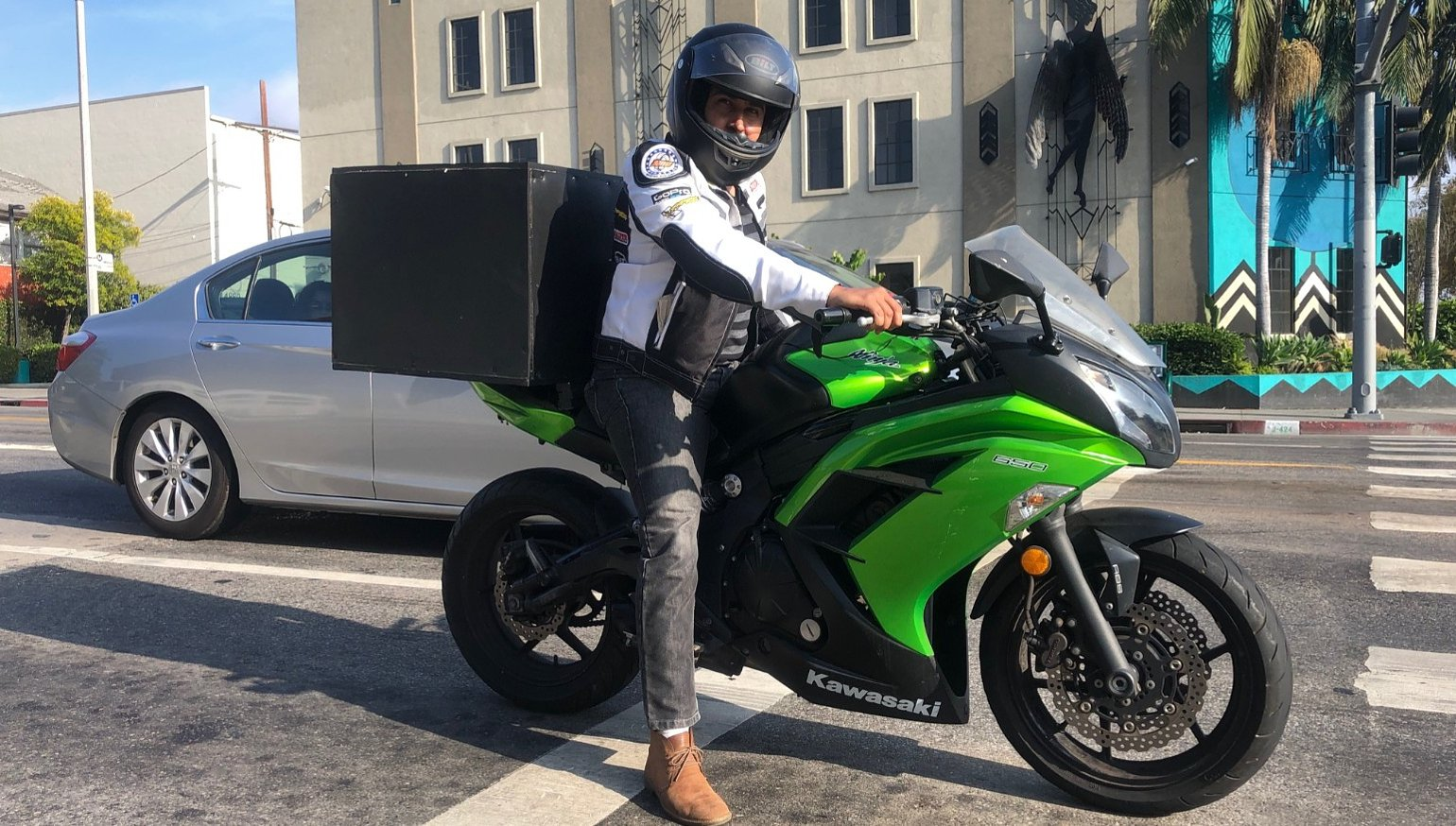 Two-wheel side hustle: Delivering food on your motorcycle