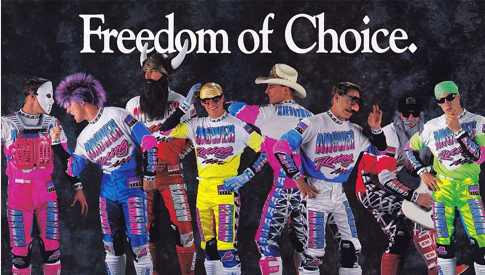 Video: The raddest years of moto gear