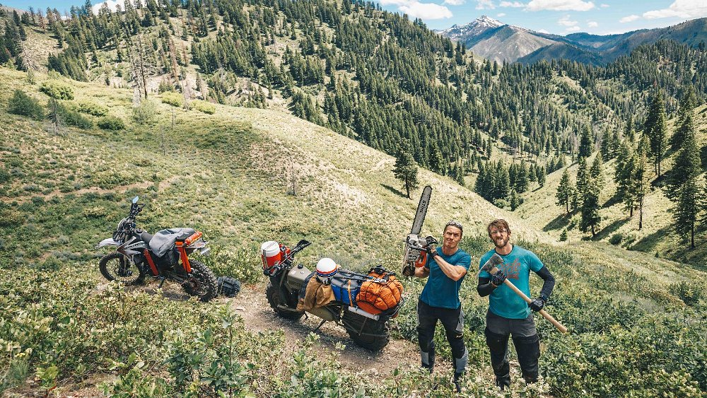 2wd and chainsaws: Ari and Zack work the trails in Idaho