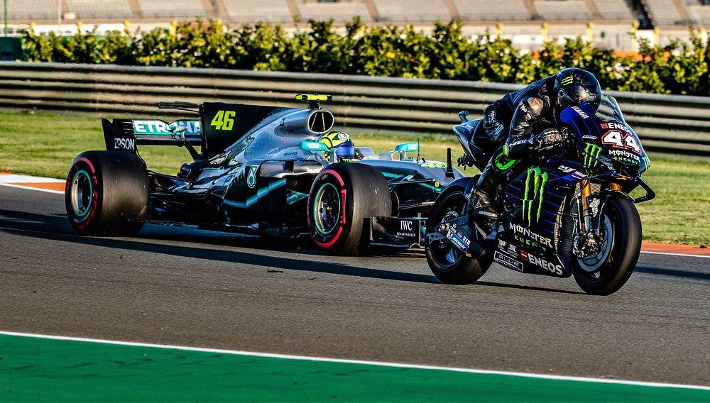 Video: Rossi swaps rides with Lewis Hamilton