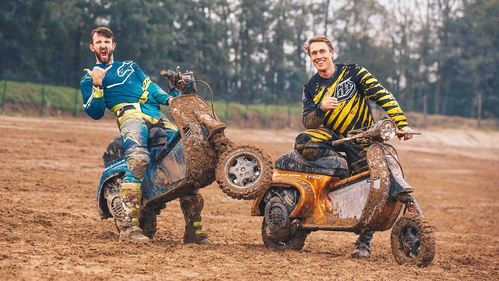 VespaCross: Racing vintage scooters on a motocross track in Italy