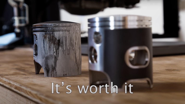 Video: A dirt bike engine rebuild like you've never seen
