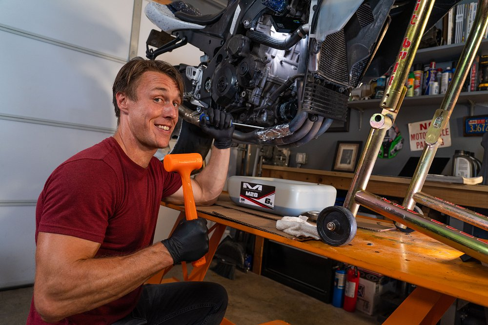 Motorcycle oil change life hacks