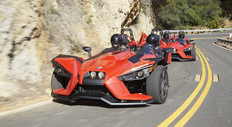 It's a bird! It's a plane! It's a car! It's a motorcycle? No, it's a Slingshot