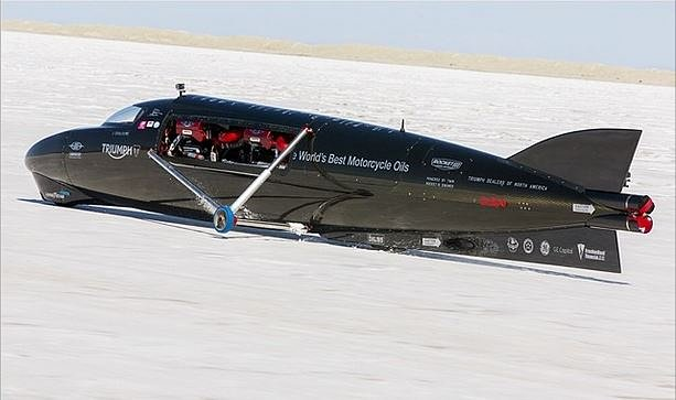 Castrol Rocket aims at the motorcycle land speed record at Bonneville