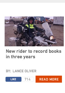 New Rider To Record Books In Three Years