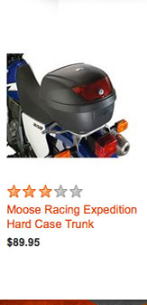 Moose Racing Expedition Hard Case Trunk