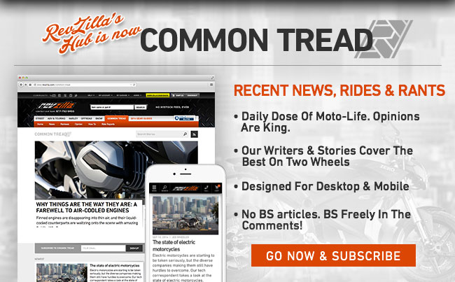 Common Tread: Motorcycle News By TeamZilla
