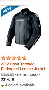 AGV Sport Tornado Perforated Leather Jacket