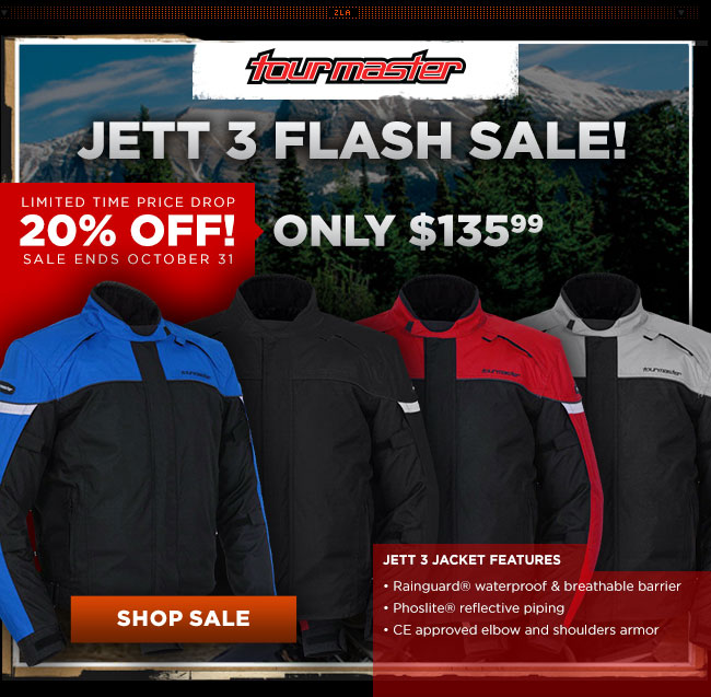 Tourmaster Jett 3 Flash Sale
