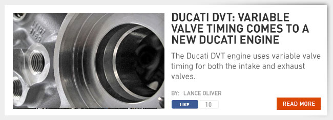 Ducati DVT: variable valve timing comes to a new ducati engine