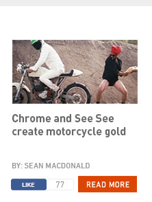 Chrome and See See create motorcycle gold