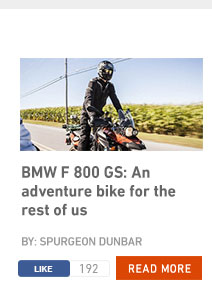 BMW F 800 GS: an adventure bike for the rest of us