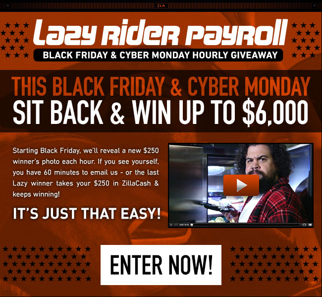 Enter RevZilla's Lazy Rider Giveaway