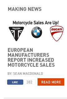 European manufacturers report increased motorcycle sales
