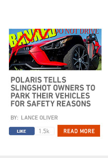 Polaris tells Slingshot owners to park their vehicles for safety reasons