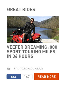 Veefer dreaming: 800 sport-touring miles in 36 hours