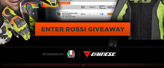 Enter To Win A Trip to Meet Rossi!