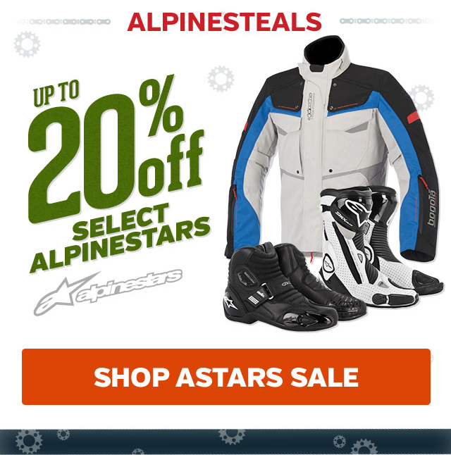Up To 20% Off Select Alpinestars