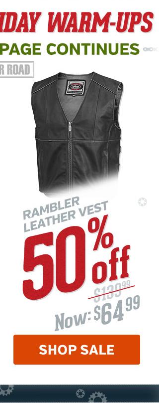 50% Off Rambler Leather Vest