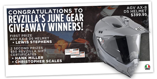 RevZilla's June Gear Giveaway: AGV AX-8 DS Helmet