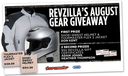 August Gear Giveaway Winners