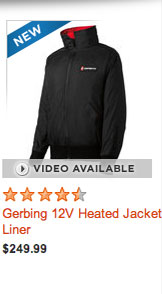 Gerbing 12V Heated Jacket Liner