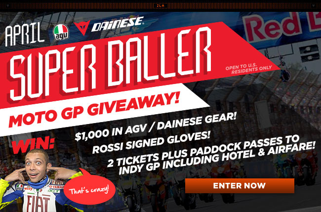Enter RevZilla's Super Baller April Giveaway