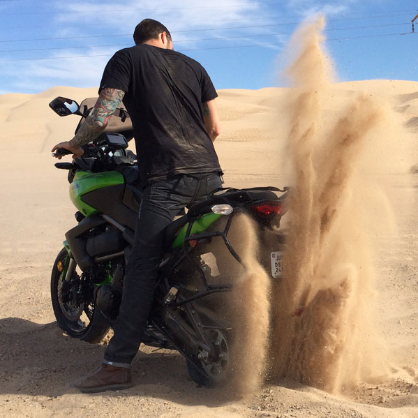 stuck in the sand in Glamis