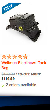 Wolfman Blackhawk Tank Bag