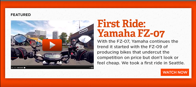 Yamaha FZ-07 first ride: low price + light weight + quality looks = big deal