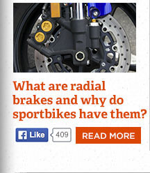 What are radial brakes and why do modern sportbikes have them?