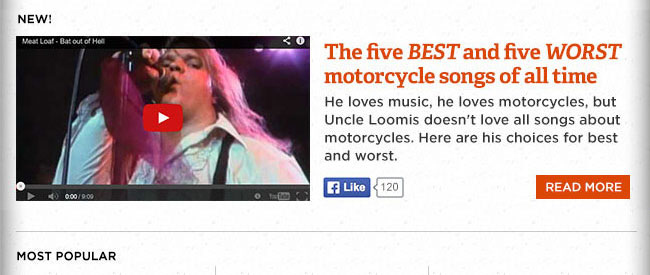 Five best and five worst motorcycle songs of all time