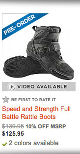 Speed and Strength Full Battle Rattle Boots