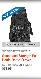 Speed and Strength Full Battle Rattle Gloves