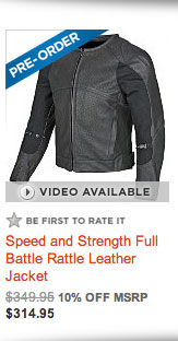 Speed and Strength Full Battle Rattle Leather Jacket