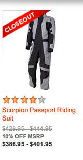 Scorpion Passport Riding Suit