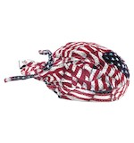 Zan's Wavy American Flag Vented Flydanna