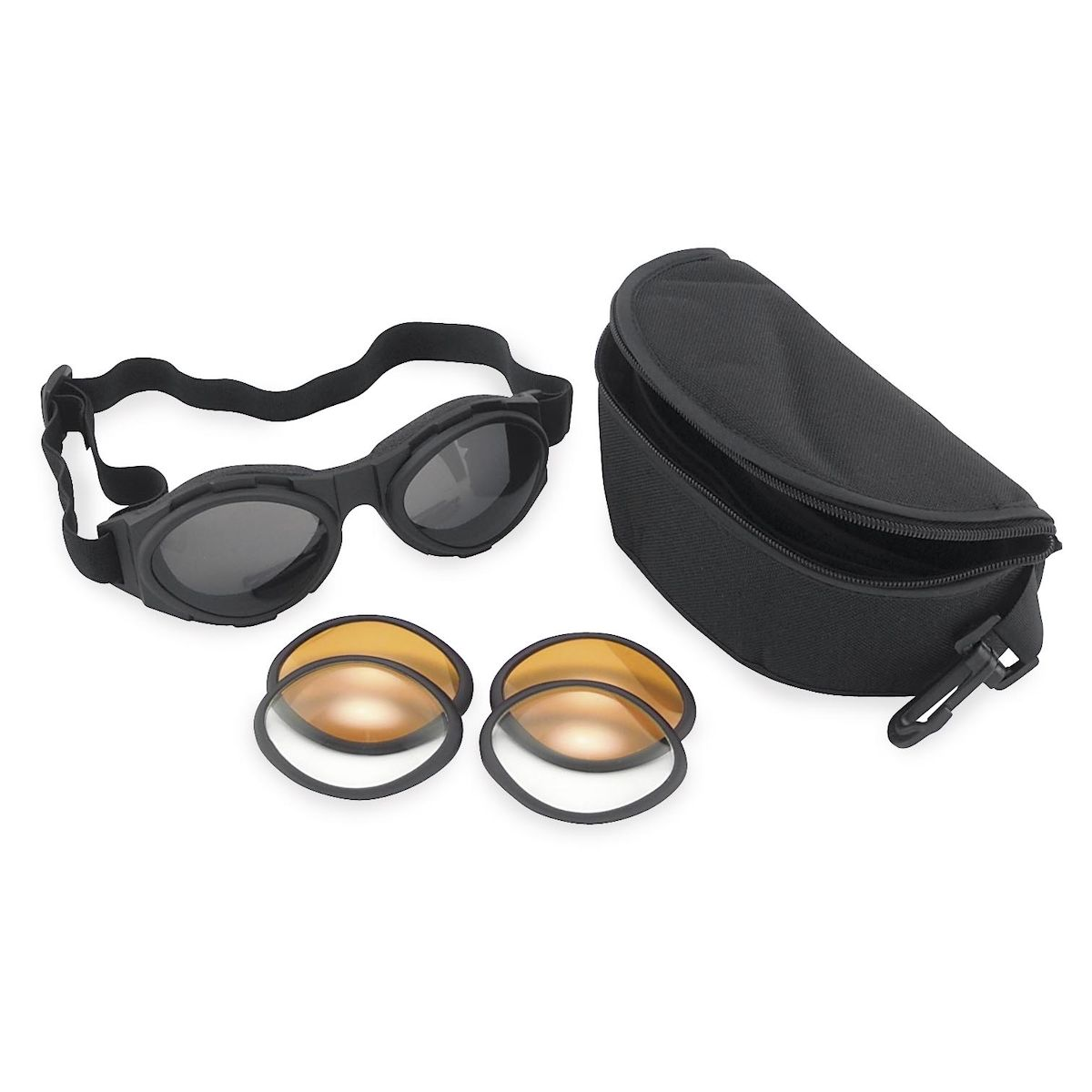 2 Motorcycle Sunglasses Women/'s Police EMT Small Padded Glasses Smoked Red Lens
