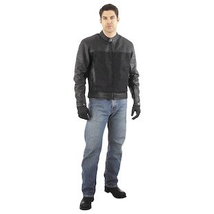 River Road Pecos Mesh Leather Jacket