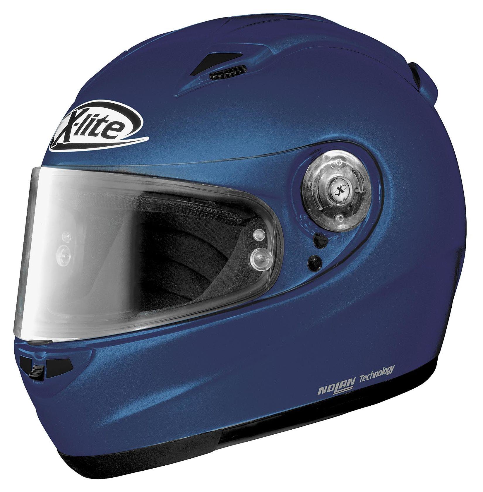 nolan x lite x 801 blue helmet revzilla. Black Bedroom Furniture Sets. Home Design Ideas