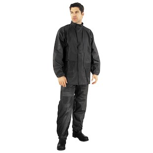 River Road Rainstorm 2-Piece Black Rain Suit