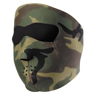 Zan's Black Neoprene Face Mask - Camo
