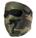 Zan's Black Neoprene Face Mask - Camo