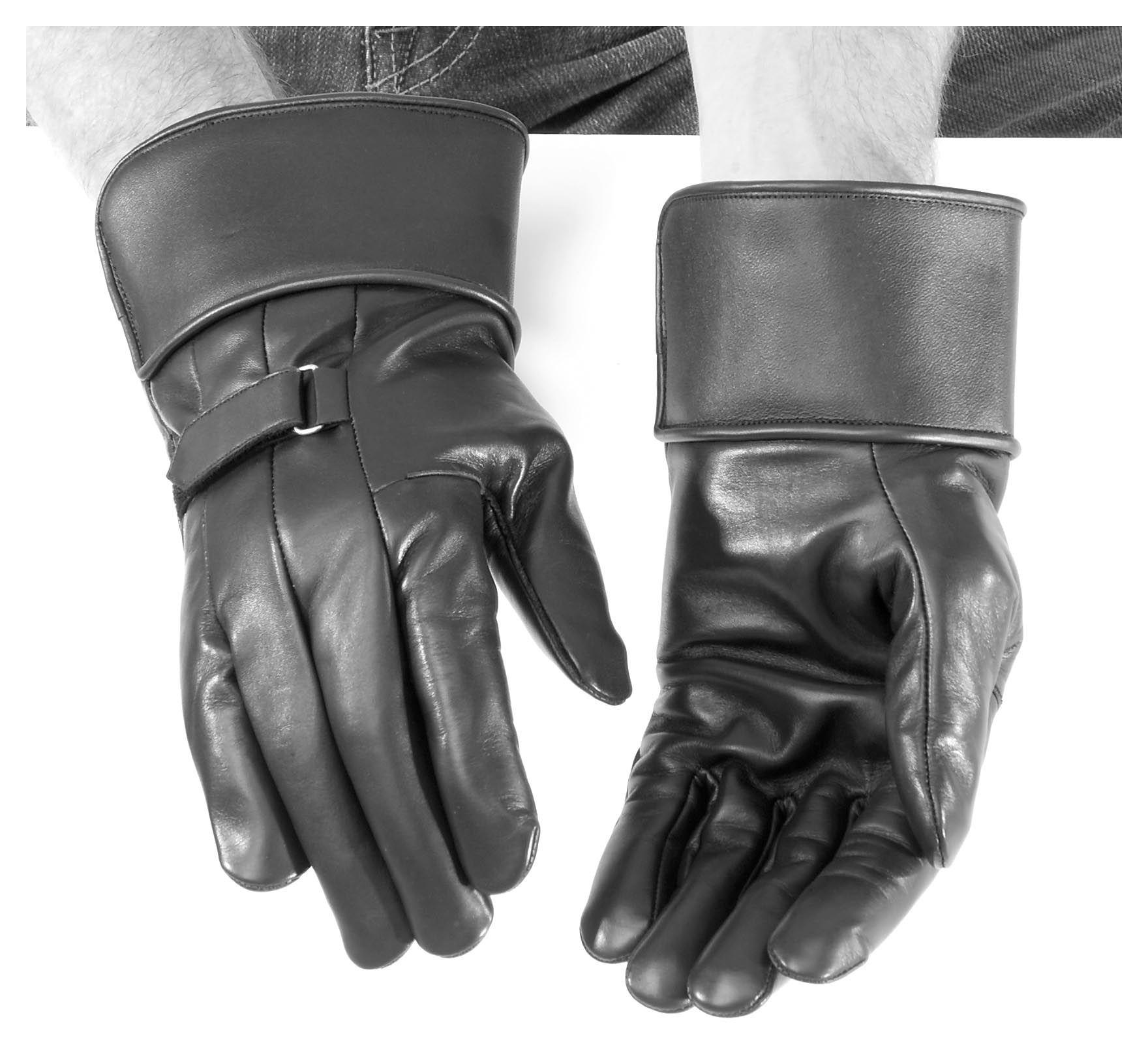 Leather gauntlet driving gloves - Leather Gauntlet Driving Gloves 31