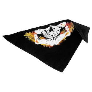 Ultimate Cycle Products Fleece Skull and Flames Facemask