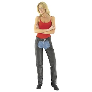 River Road Women's Basic Motorcycle Leather Chaps