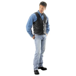 River Road Wyoming Nickel Leather Vest